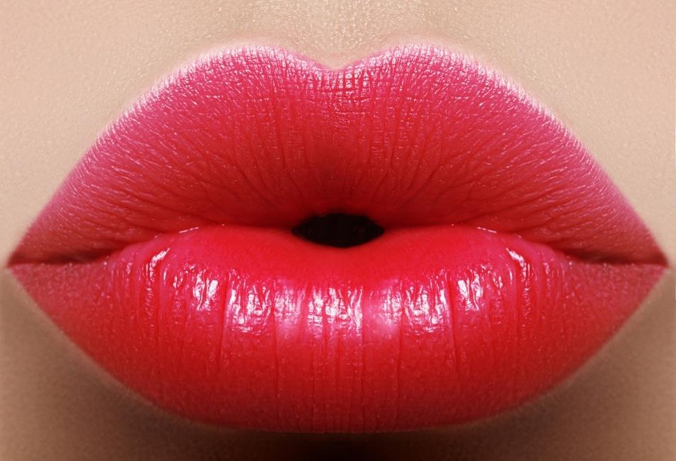 Labbra rosse naturali