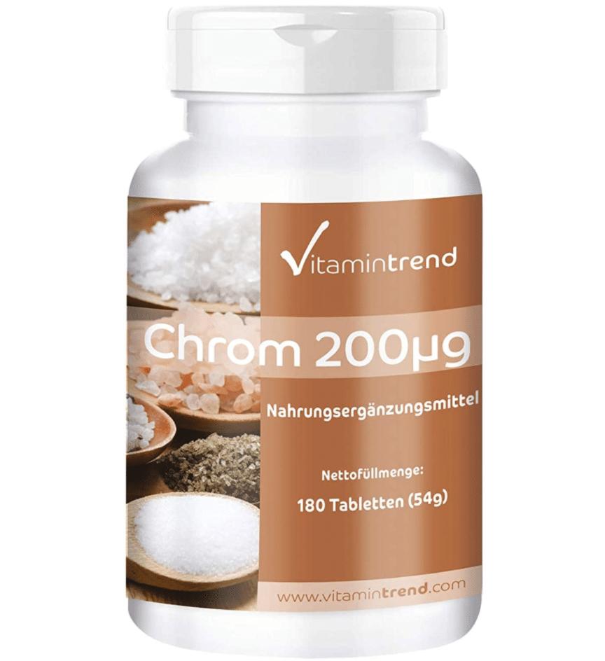 Uno dei migliori integratori a base di Cromo - VitaminTrend Cromo Picolinato