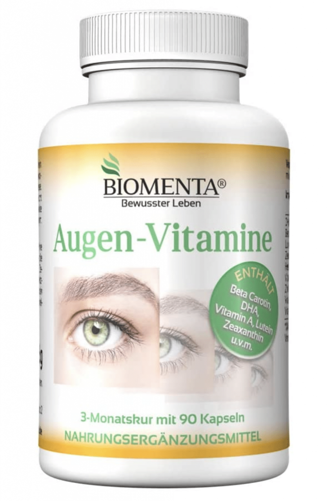 La nostra soluzione consigliata è Biomenta Augen-Vitamine