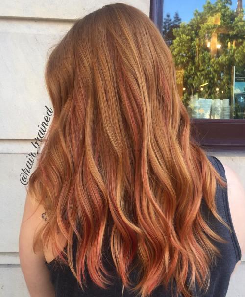 Burnt Orange tonalità capelli