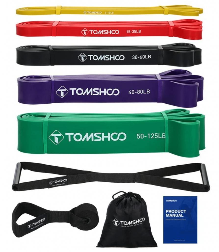 Anche Tomshoo offre un ottimo kit per l'allenamento con bande elastiche