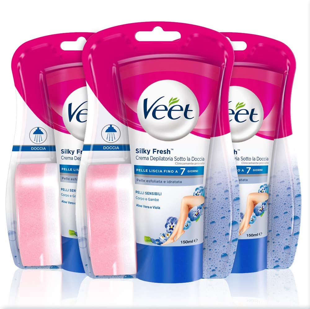 Veet Silk & Fresh Technology Crema Depilatoria Sotto la Doccia