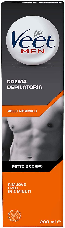 Veet Men Crema Depilatoria Uomo Pelli Normali