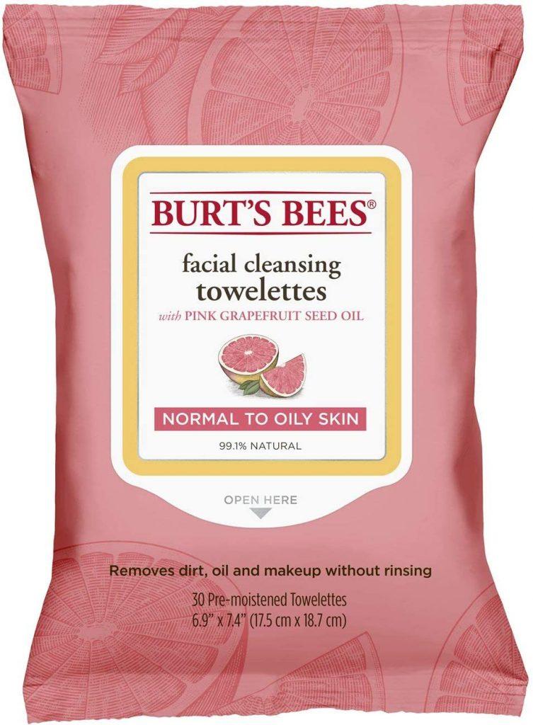 Salviette struccanti Burt's Bees per pelli grasse