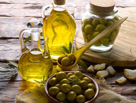 Olio di oliva pelle