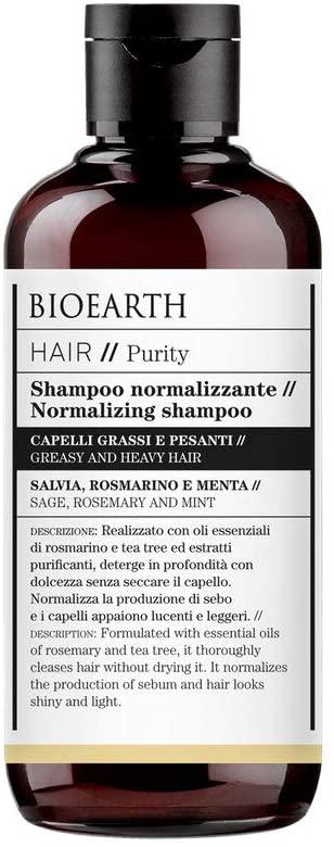 Bioearth Hair 2.0 Shampoo Normalizzante per capelli grassi e pesanti