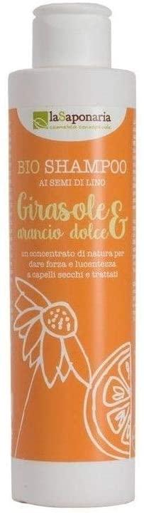 La Saponaria shampoo bio girasole, arancio dolce e semi di lino