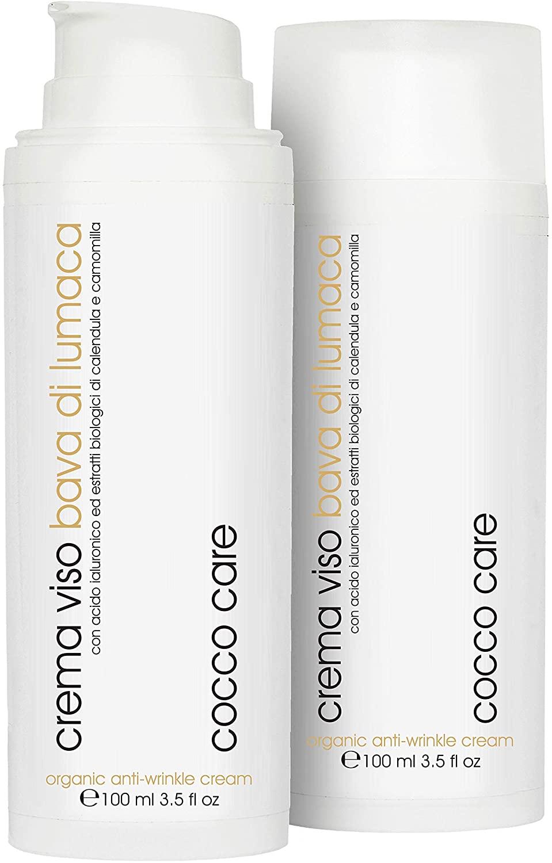 Cocco Care Bio Crema Viso Bava di Lumaca 62% con Vitamina E e C