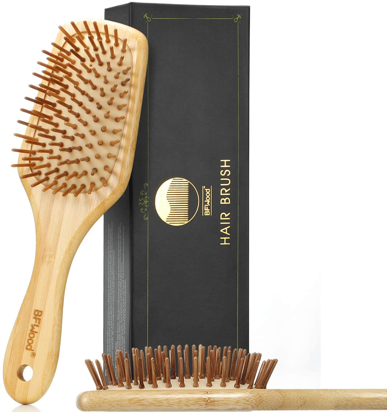BFWood Big Bamboo Hairbrush