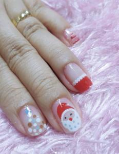 Unghie natalizie 2021 Babbo Natale