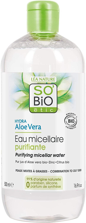 So' Bio étic acqua micellare purificante per pelli miste a grasse