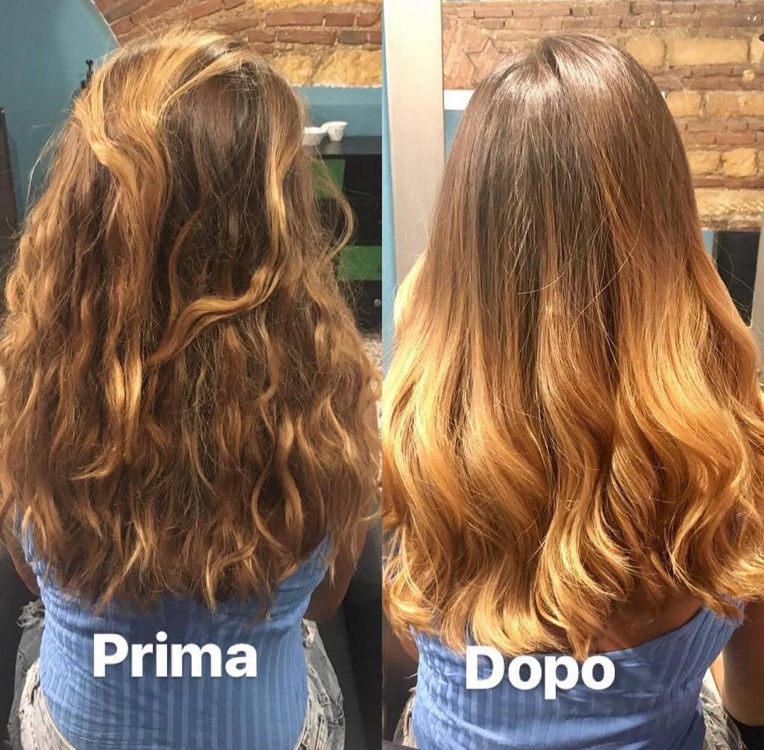 Ossigenoterapia capelli prima e dopo